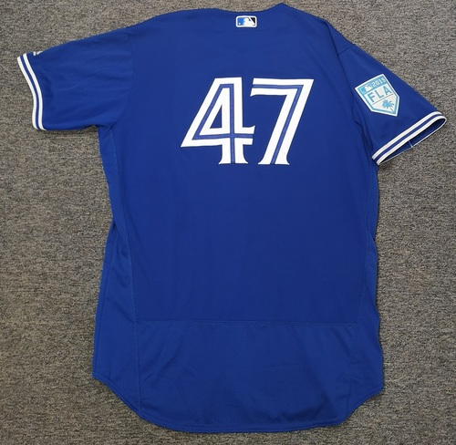 Photo of Authenticated Game Used 2019 Spring Training Jersey - #47 Shelley Duncan (Mar 25). Size 48