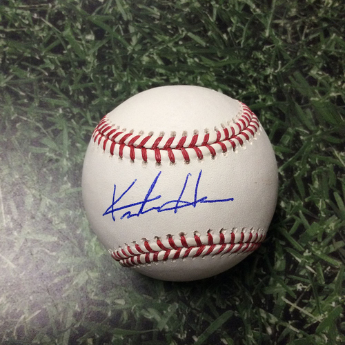 Photo of Keston Hiura Autographed Baseball
