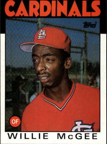 Photo of 1986 Topps #580 Willie McGee