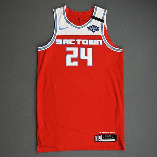 Image of Buddy Hield - Sacramento Kings - Game-Worn City Edition Jersey - Scored 22 Points - 2019-20 Season