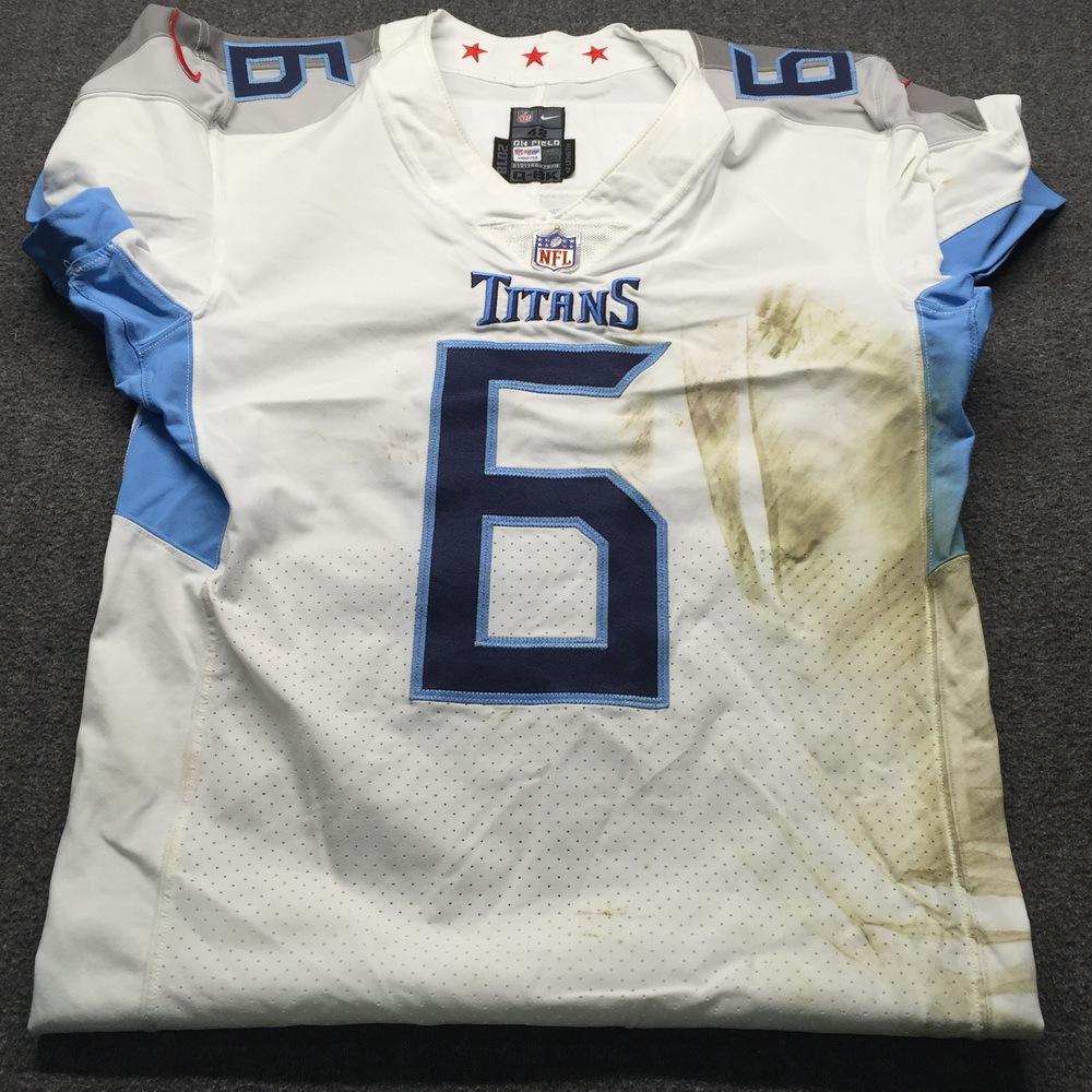 NFL Auction   NFL - London Games Titans Brett Kern Game Used ...