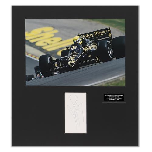 Photo of Ayrton Senna 1986 Photograph With Mounted Autograph