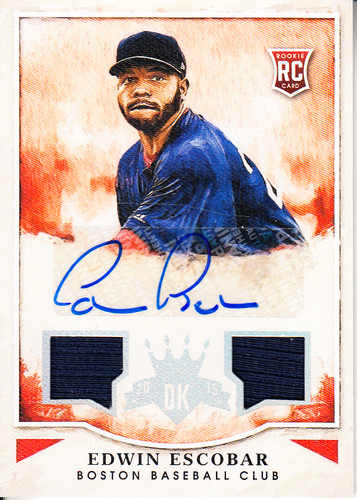 Photo of 2015 Diamond Kings Rookie Signature Materials Silver #160 Edwin Escobar/299
