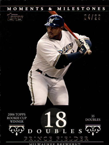 Photo of 2007 Topps Moments and Milestones Black #58-18 Prince Fielder/2B 18