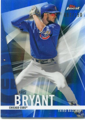 Photo of 2017 Finest Blue Refractors #100 Kris Bryant 097/150