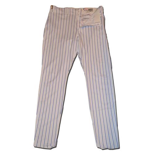 Photo of Jeurys Familia #27 - Game Used White Pinstripe Pants - Mets vs. Braves - 9/27/17