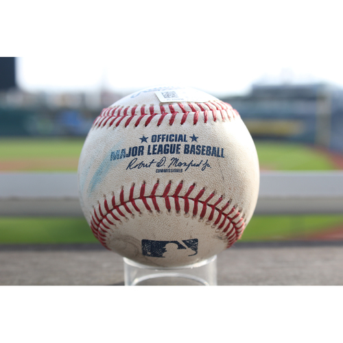 Photo of Game-Used Baseball: Whit Merrifield 231st Career Hit (MIN at KC - 9/8/2017)