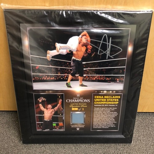 Photo of John Cena SIGNED Night of Champions 2015 Signature Series Plaque (#1 of 1)