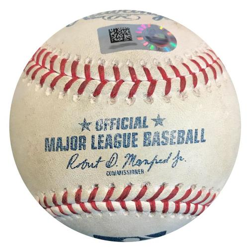 Photo of Game-Used Baseball from Pirates vs. Reds on 9/4/18 - Joey Votto Single