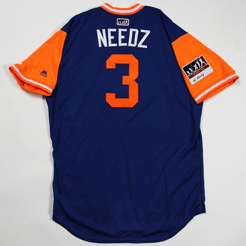 "Photo of Tomas ""Needz"" Nido New York Mets Game-Used Jersey 2018 Players' Weekend Jersey"