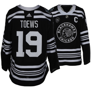 Jonathan Toews Chicago Blackhawks Game-Worn 2019 NHL Winter Classic JerseyJonathan  Toews Chicago Blackhawks Game-Worn 2019 NHL Winter Classic. b66073a18