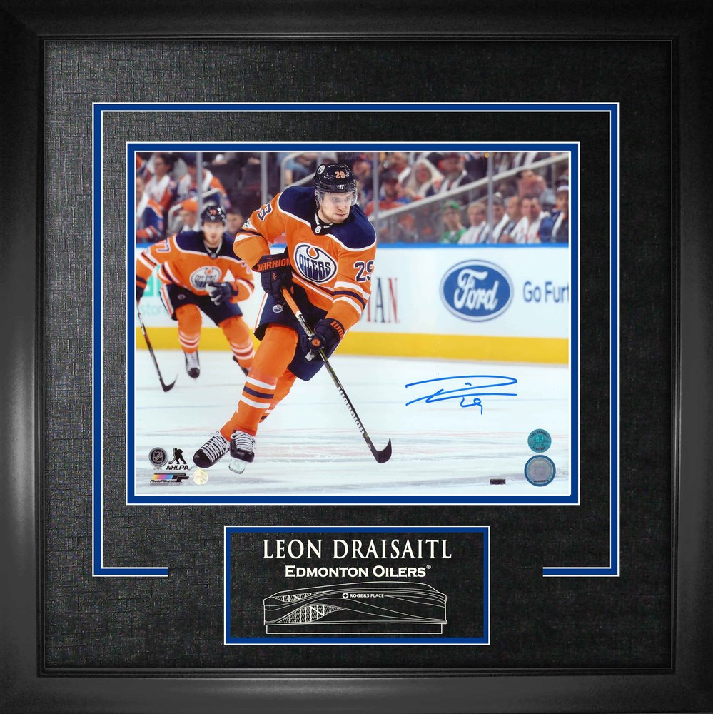 Leon Draisaitl Signed 11x14 Etched Mat Oilers