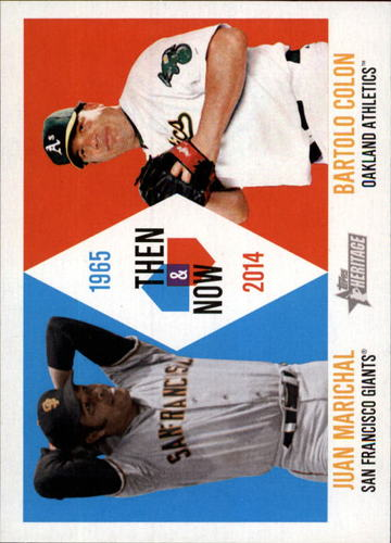 Photo of 2014 Topps Heritage Then and Now #TANMC Juan Marichal/Bartolo Colon