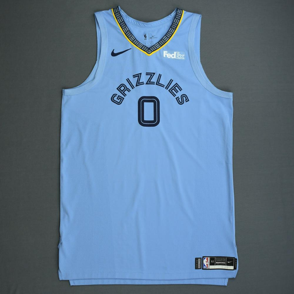 JaMychal Green - Memphis Grizzlies - 2018-19 Season - Game-Worn Blue Statement Edition Jersey