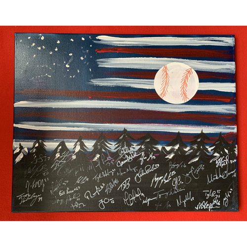 Photo of 2019 Twins Favorite Things Auction: Painting signed by Team Members (1)
