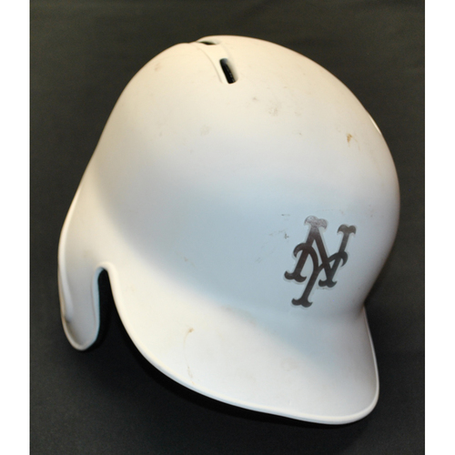 "Photo of Michael ""FORTO"" Conforto New York Mets Game-Used 2019 Players' Weekend Helmet"