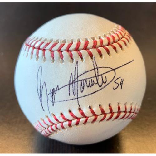 Giants Community Fund: Reyes Moronta Autographed Baseball