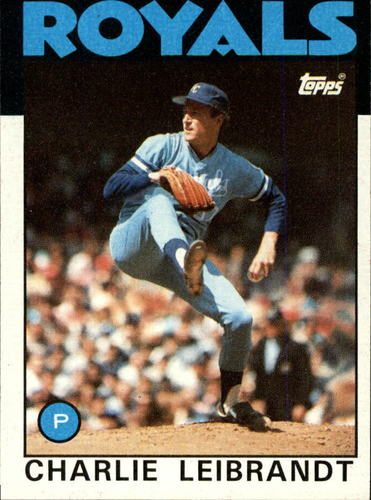 Photo of 1986 Topps #77 Charlie Leibrandt
