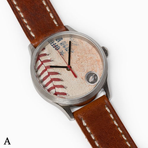 Photo of Tokens & Icons Boston Red Sox 2018 World Series Game Used Baseball Watch W/ Marks - A Game 2