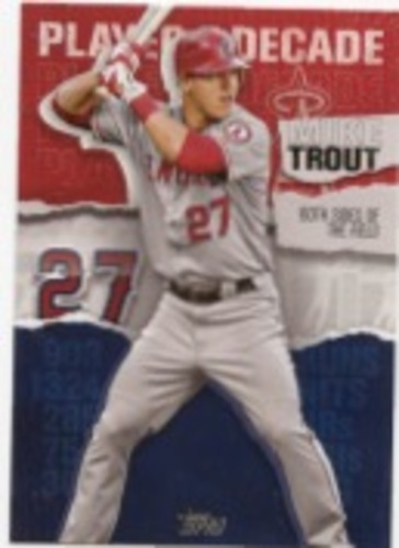 Photo of 2020 Topps Player of the Decade Mike Trout #MT4 Mike Trout