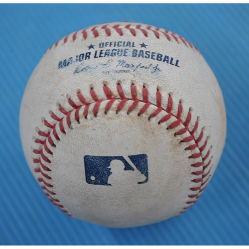 Photo of Game-Used Baseball - 2020 NLCS - Los Angeles Dodgers vs. Atlanta Braves - Game 5 - Pitcher: Dustin May, Batter: Freddie Freeman (Double) - Bot 1