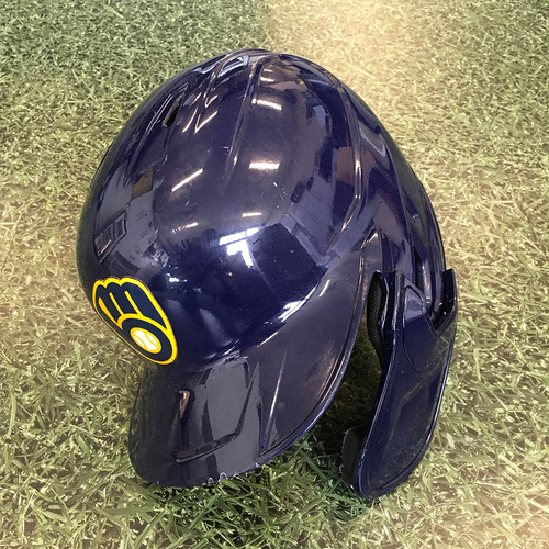 Photo of Orlando Arcia 2020 Game-Used Batting Helmet