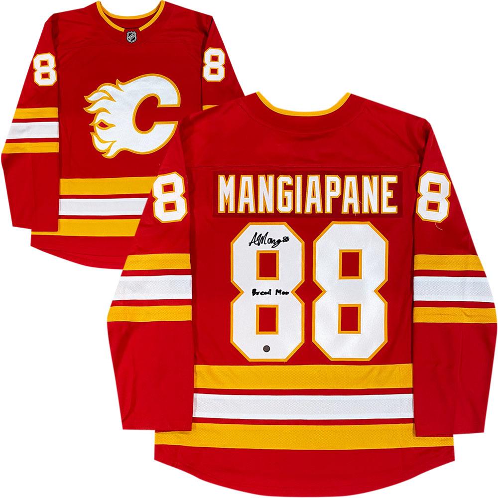 Andrew Mangiapane Autographed Calgary Flames Fanatics Jersey w/BREAD Inscription