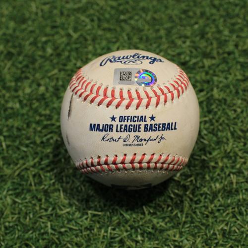 Photo of Game-Used Baseball: Jarred Kelenic 10th Career Double, 20th & 21st Career RBIs (SEA@KC 9/19/21)