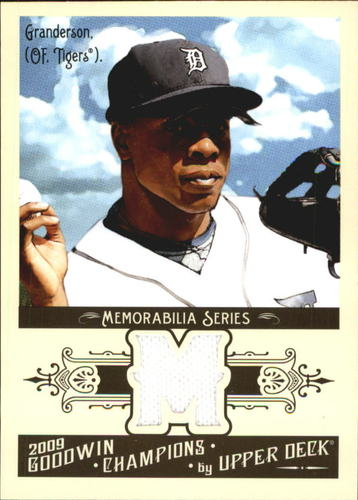 Photo of 2009 Upper Deck Goodwin Champions Memorabilia #CG Curtis Granderson