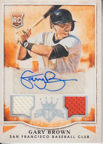 Photo of 2015 Diamond Kings Rookie Signature Materials Silver #161 Gary Brown/299