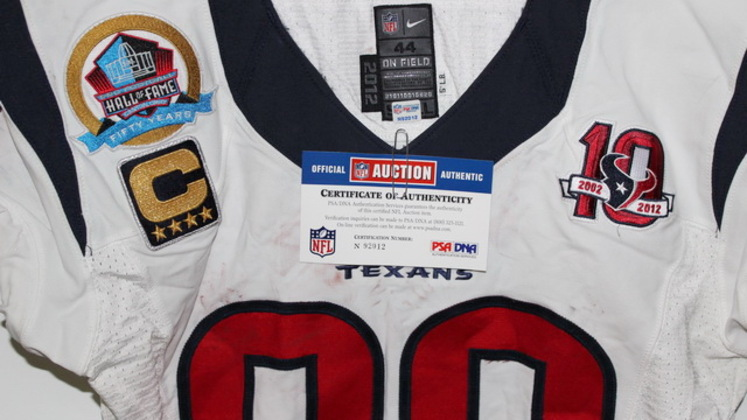 best service 8c56f 7bbf4 NFL Auction | ANDRE JOHNSON SIGNED GAME WORN TEXANS JERSEY ...