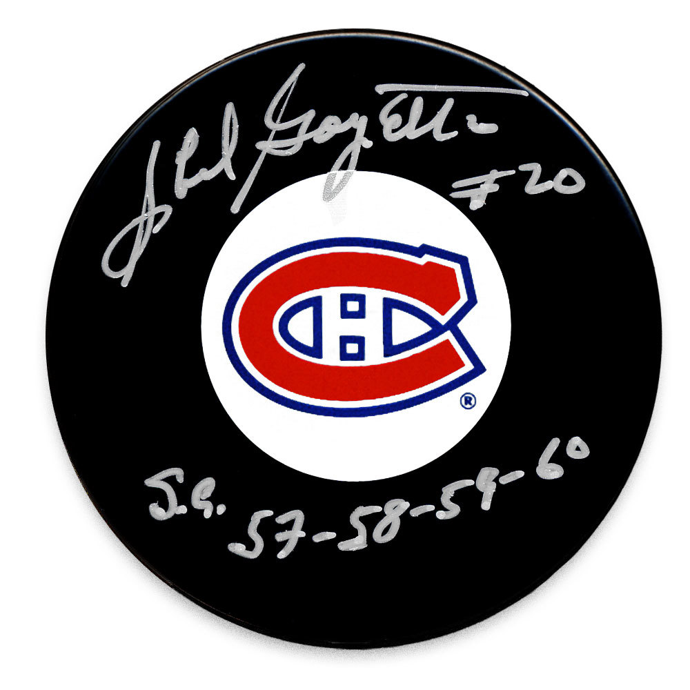 Phil Goyette Montreal Canadiens SC Years Autographed Puck