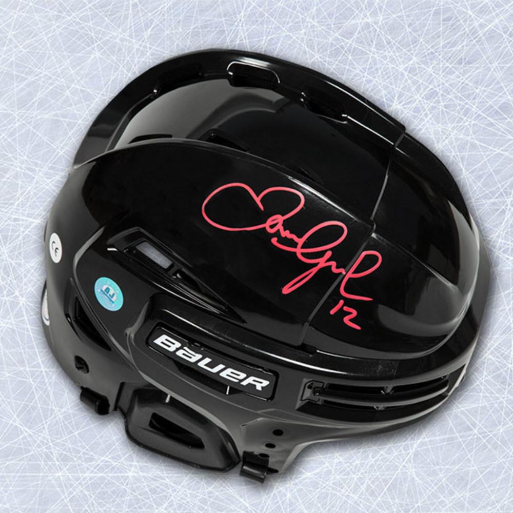 Jarome Iginla Autographed Bauer Black Hockey Helmet - Calgary Flames