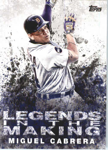 Photo of 2018 Topps Legends in the Making #LTMMC Miguel Cabrera