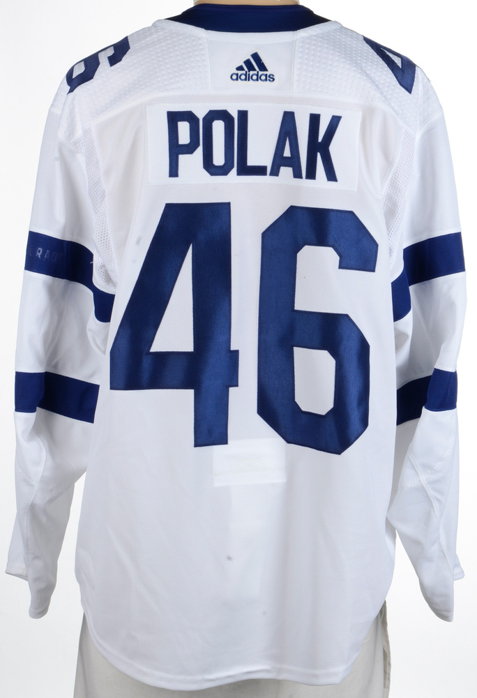 save off bb0c1 2674d Roman Polak Toronto Maple Leafs Game-Worn 2018 NHL Stadium ...