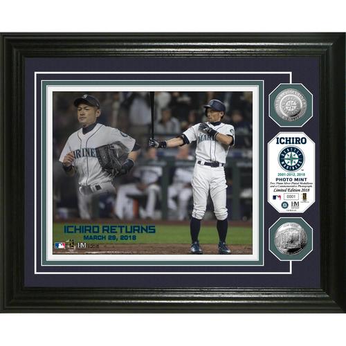 Photo of Ichiro Mariners Return Silver Coin Photo Mint