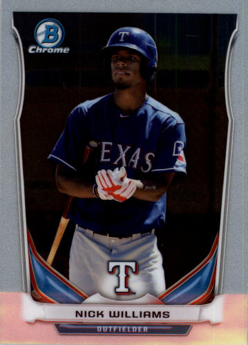 Photo of 2014 Bowman Chrome Draft Top Prospects Nick Williams -- Pre-Rookie Card