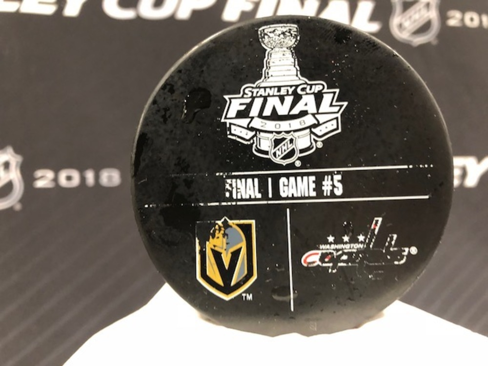 2018 NHL Stanley Cup Final, Game 5, Pregame Warm up Puck - 2018 NHL Stanley Cup Final - Vegas Golden Knights vs. Washington Capitals