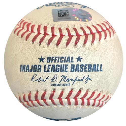 Photo of Game-Used Baseball from Pirates vs. Reds on 9/4/18 - Gregory Polanco 2 RBI Double