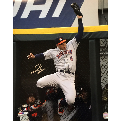 George Springer Autographed 16x20 Photo - Robbing HR