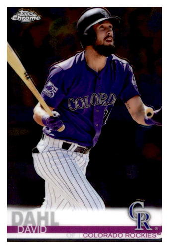 Photo of 2019 Topps Chrome #91 David Dahl