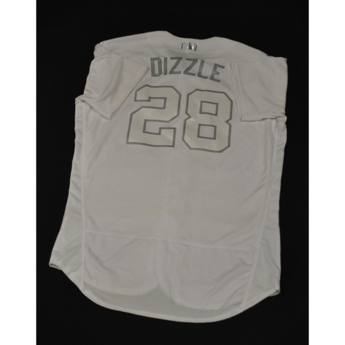 "Photo of J.D. ""DIZZLE"" Davis New York Mets Game-Used 2019 Players' Weekend Jersey"