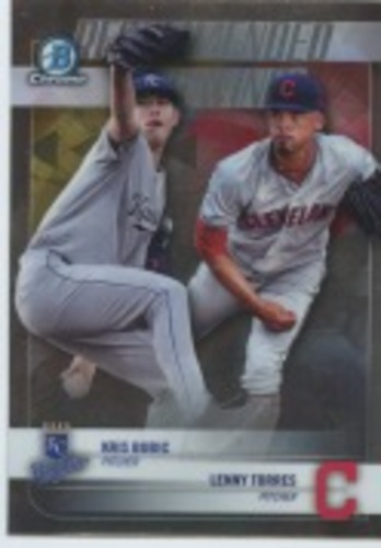 Photo of 2018 Bowman Chrome Draft Recommended Viewing #RVBT Kris Bubic/Lenny Torres