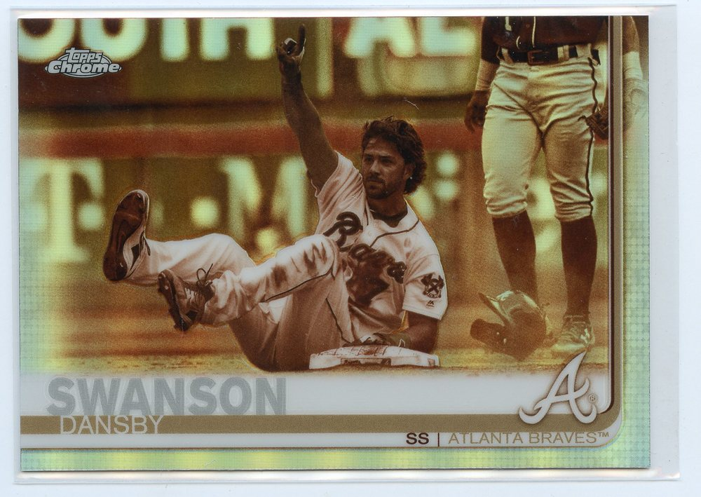 2019 Topps Chrome Sepia Refractors #169 Dansby Swanson