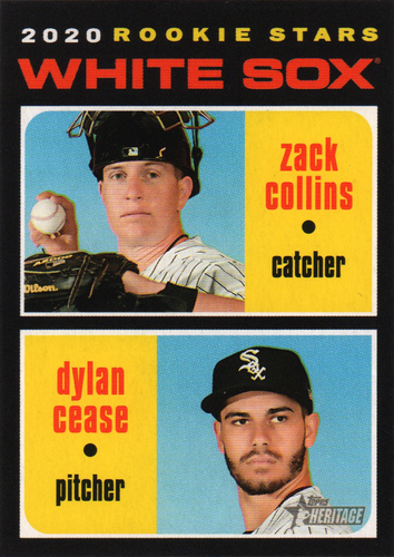 Photo of 2020 Topps Heritage #13 Dylan Cease RC/Zack Collins RC