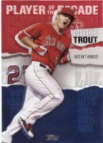 Photo of 2020 Topps Player of the Decade Mike Trout #MT12 Mike Trout