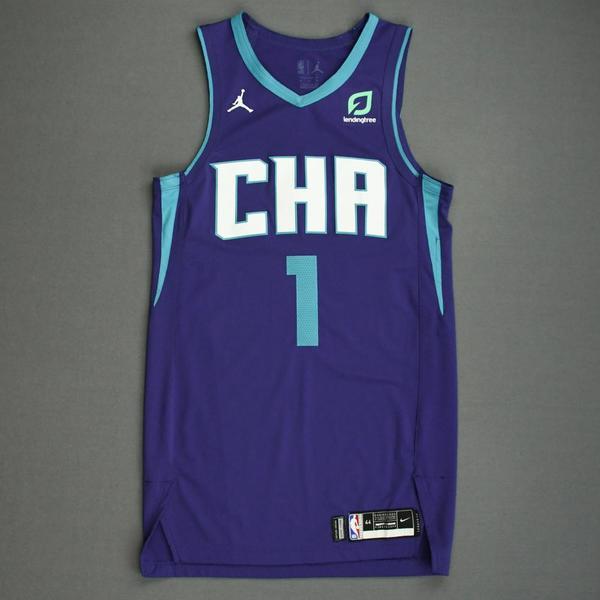 Image of Malik Monk - Charlotte Hornets - Game-Issued Statement Edition Jersey - 2019-20 NBA Season