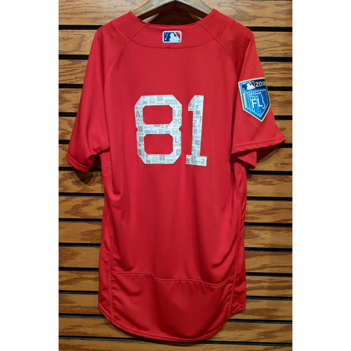 Photo of 2018 Spring Training Red #81 Team Issued Jersey