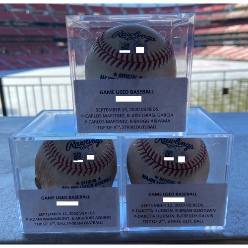 Cardinals Authentics: Game-Used Baseballs fom September 11th-13th