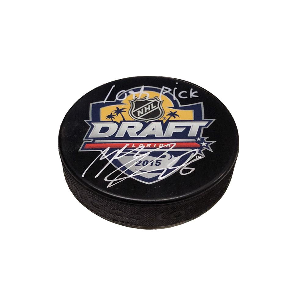MIKKO RANTANEN Signed & Inscribed 2015 NHL Draft Puck - 10th Pick